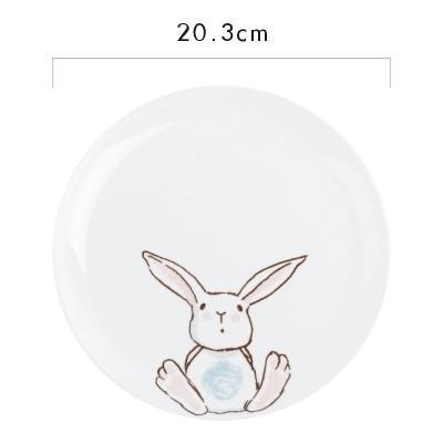 Rabbit Ceramic Dinner Plate-Plate-Chef's Quality Cookware