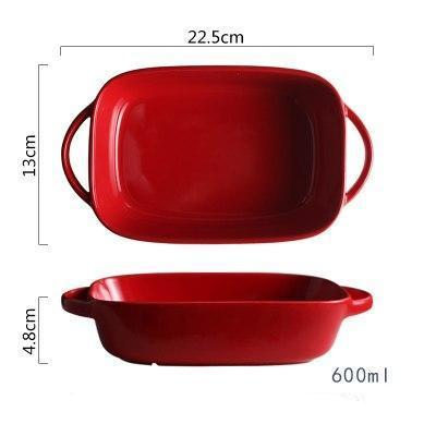 Rectangular Ceramic Bakeware-Bakeware-Chef's Quality Cookware