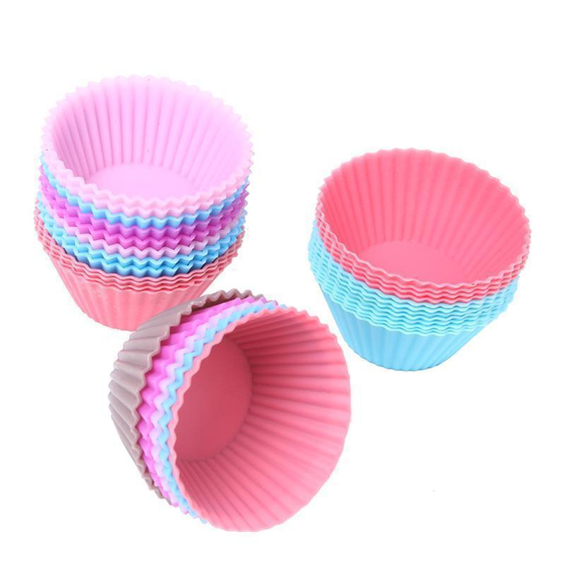 Reusable 12 Piece Mini Muffin Cup Set Made from Silicone-Muffin Cup-Chef's Quality Cookware