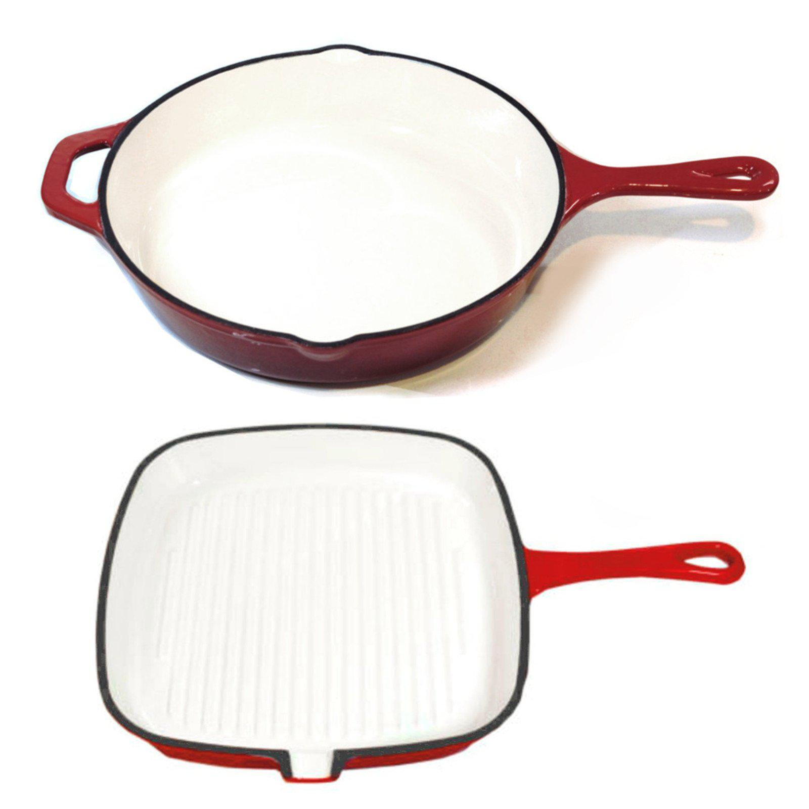 Chef's Quality Cast Iron Enamel Skillet Bundle-Cast Iron Enamel-Chef's Quality Cookware