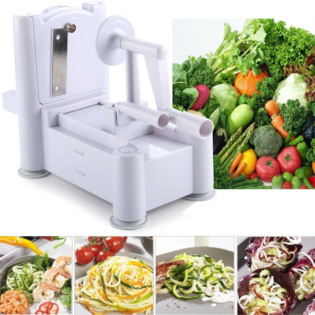 Spiralizer Multi-Functional, Slicer, Cutter & Shredder-Cooking Tools-Chef's Quality Cookware
