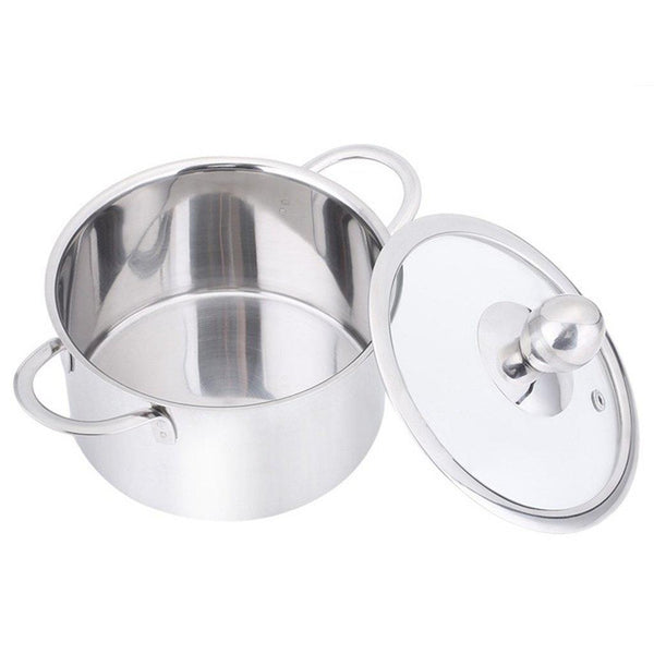 Stainless Steel Induction Stockpot/Casserole with Lid 16/18/20CM-Stainless Steel Cookware-Chef's Quality Cookware