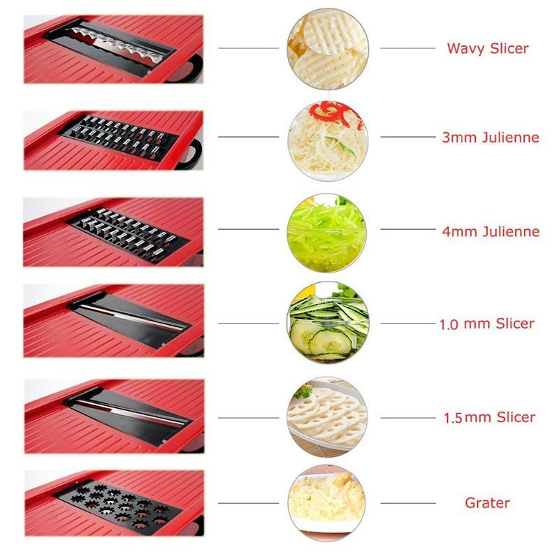 Vegetable Slicer with Steel Blade-Chef's Quality Cookware