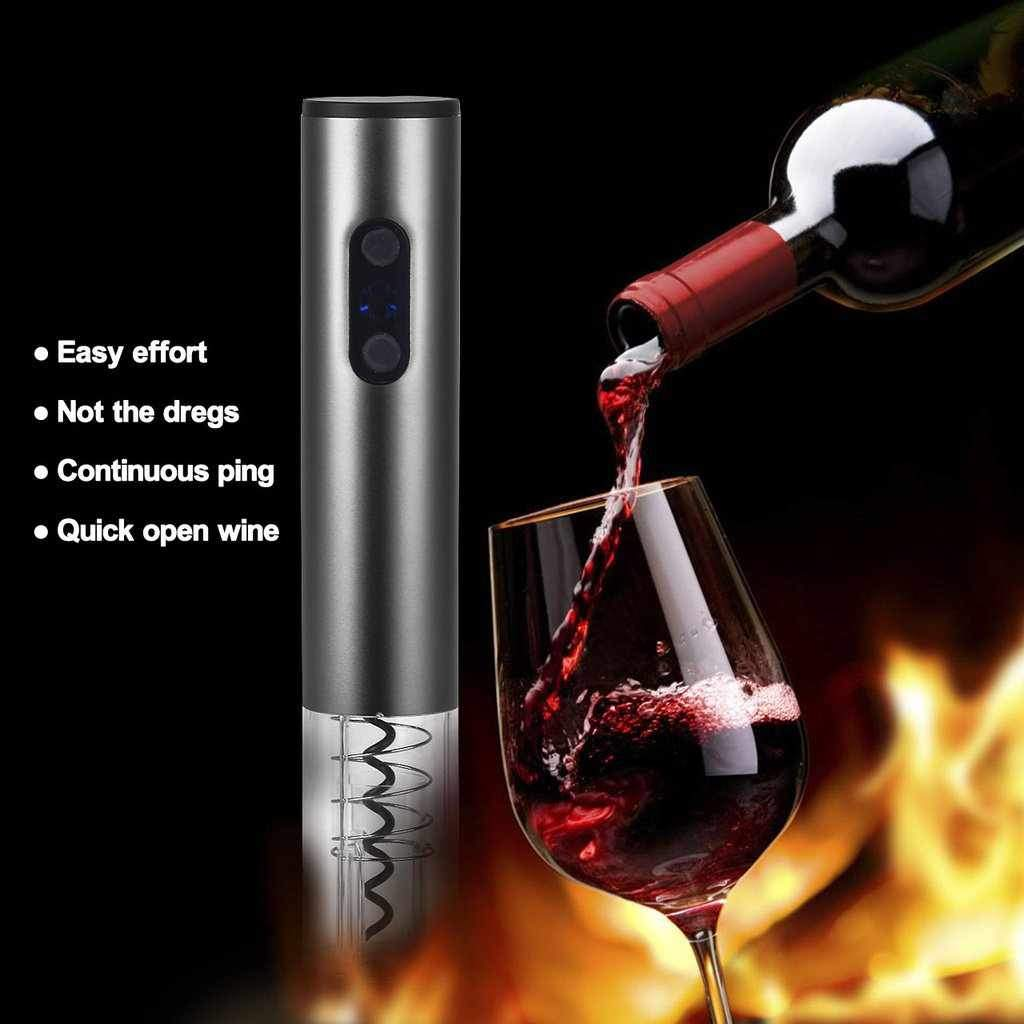 Wine Bottle Opener -Red Automatic Corkscrew-Chef's Quality Cookware