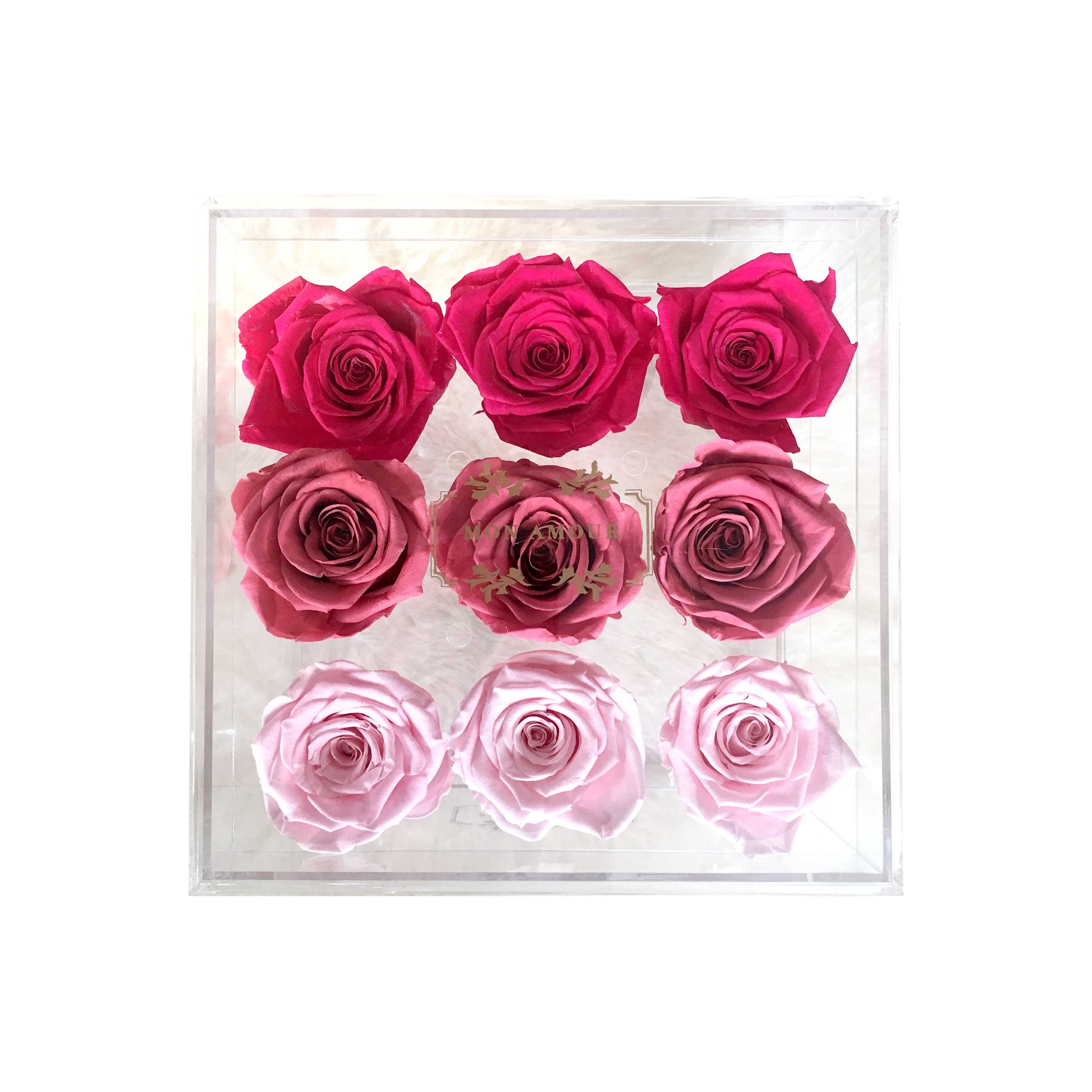 Mon Amour, Rose, Flowers, ombre, Gift idea, Luxury, home decor