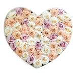 Mon Amour Luxury Floral Arrangement, Heart shape Rose box, Flowers, Pink, Pastel rose box