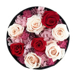 Preserved round rose box (garden arrangement) - Mon Amour Flowers - last one year