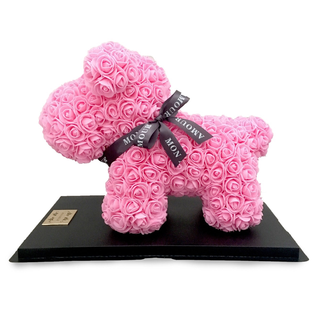 Mon Amour, Roses, Puppy Collection, puppy, Dog, Blue roses, home decor, For Her, pink, Cute
