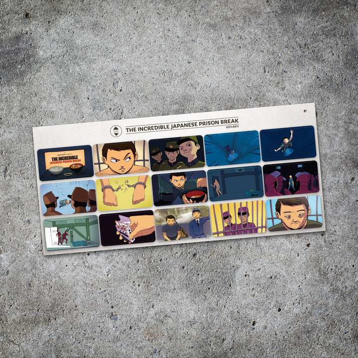 Kento Bento 'The Incredible Japanese Prison Break' Sticker Set
