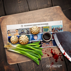 Kento Bento 'The Shocking Chinese Pork Bun Murders' Sticker Set