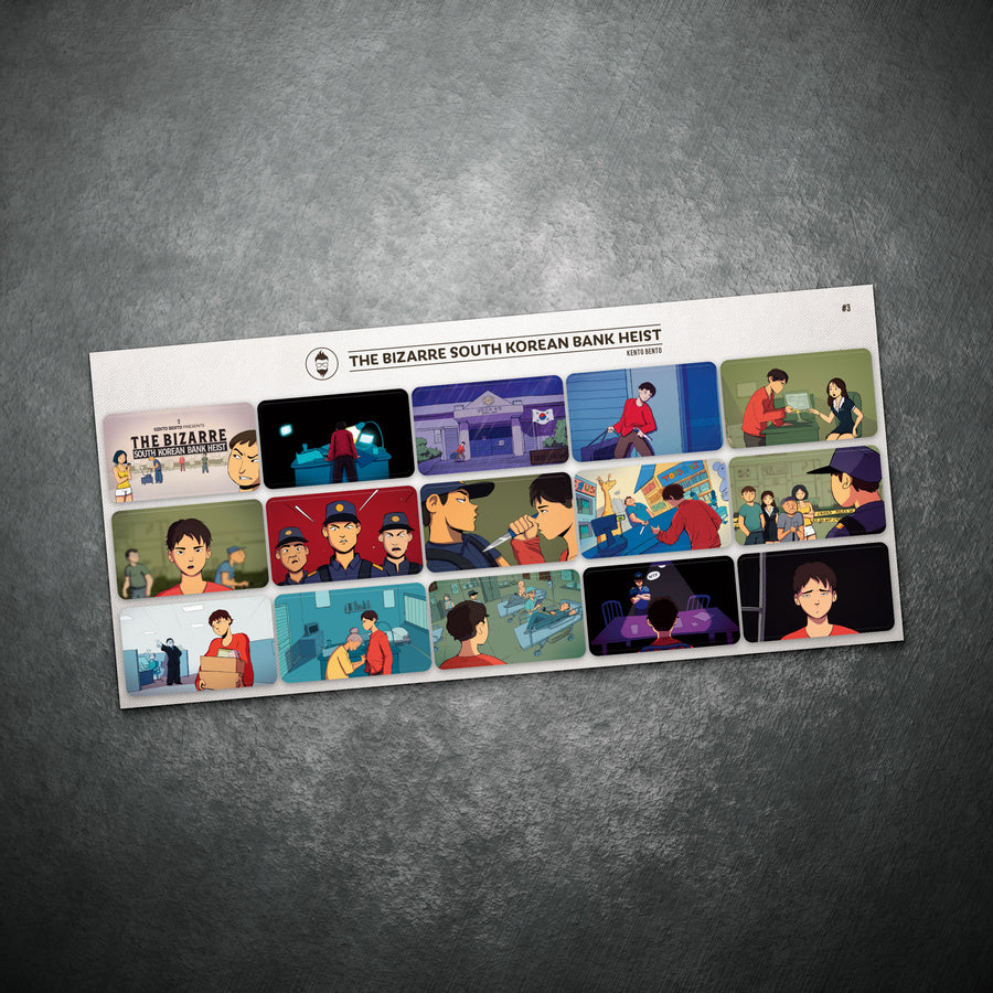 Kento Bento 'The Bizarre South Korean Bank Heist' Sticker Set
