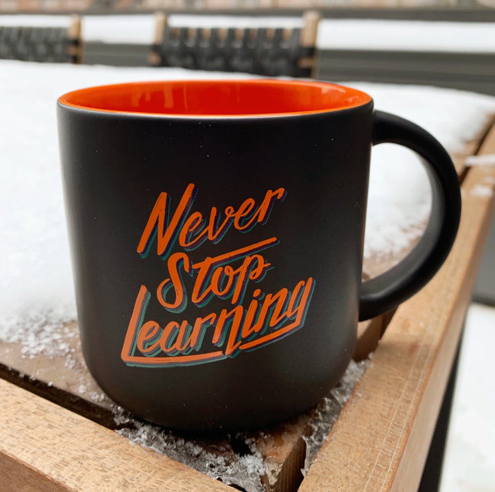 Thomas Frank Never Stop Learning Mug