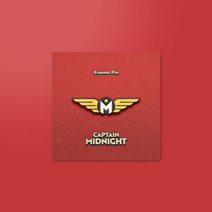 Captain Midnight Logo Enamel Pin