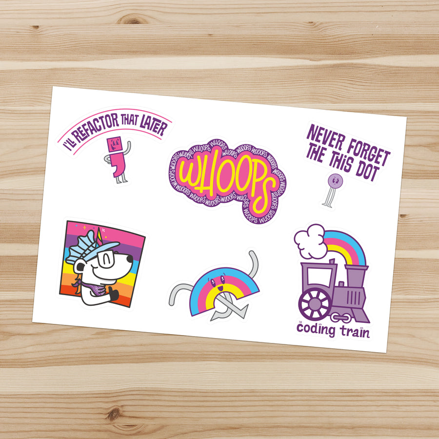 The Coding Train Sticker Set