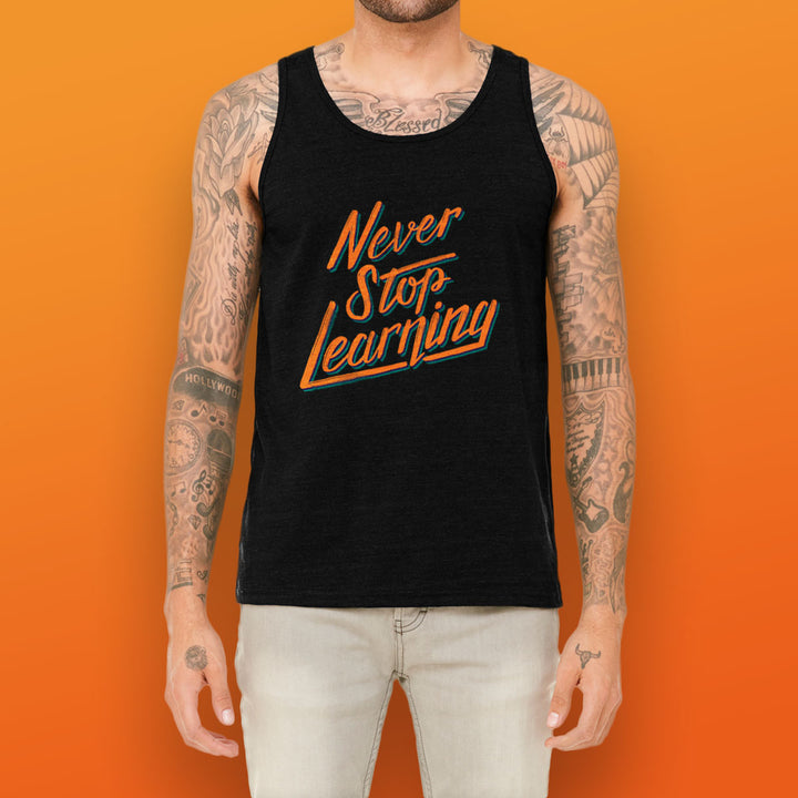 College Info Geek Never Stop Learning Tank Top