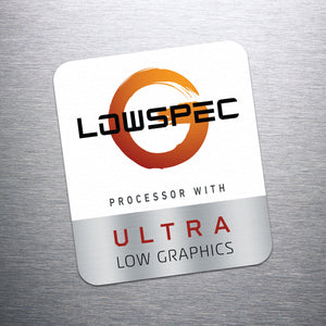 LowSpecGamer Ultra Low Graphics Sticker