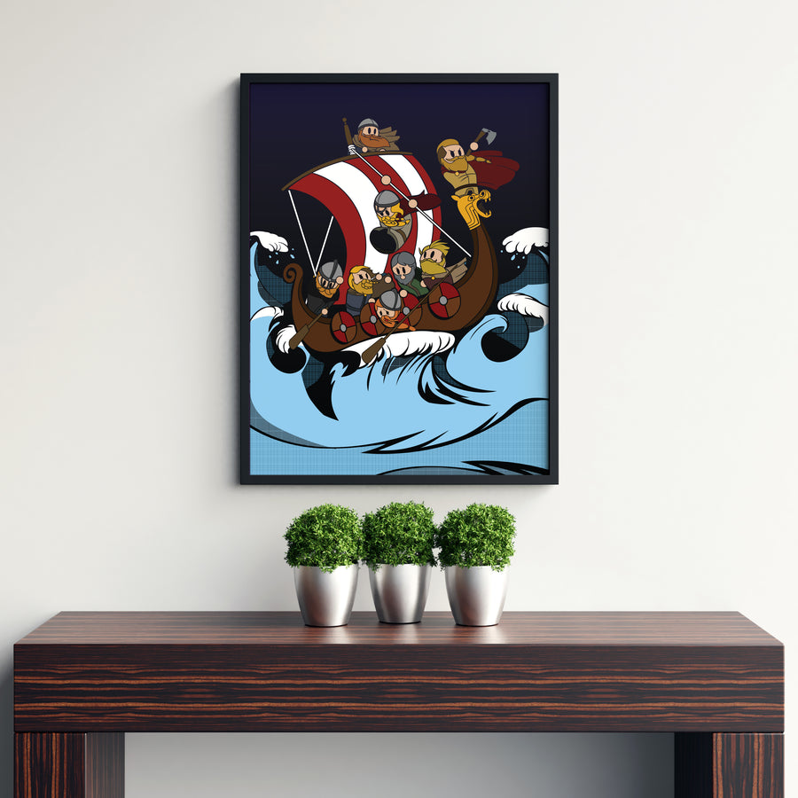 Suibhne Viking Ship Poster