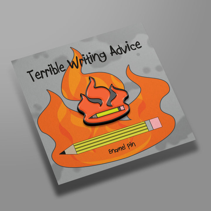 Terrible Writing Advice Logo Enamel Pin