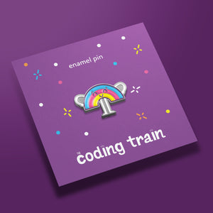 The Coding Train Rainbow Pin
