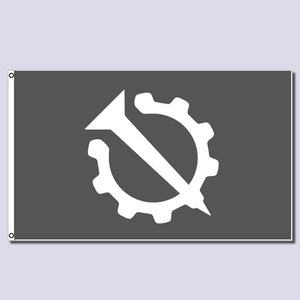 Hello Internet Nail and Gear Flag