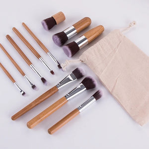 BAMBOO MAKEUP BRUSH SET