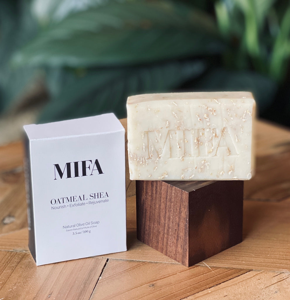 Organic Certified, Oatmeal, Shea, and Olive Oil Bar of Soap