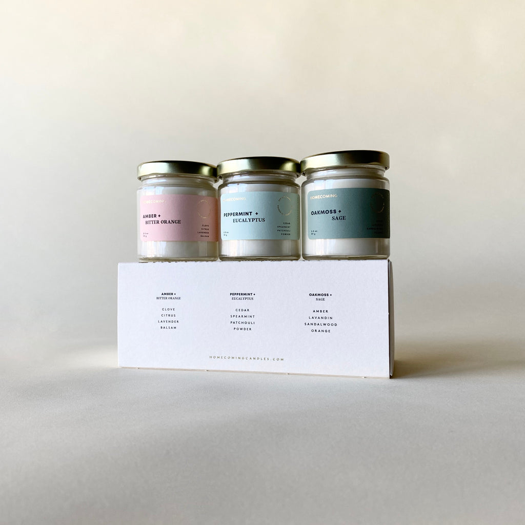 Homecoming Candle Homebody Set