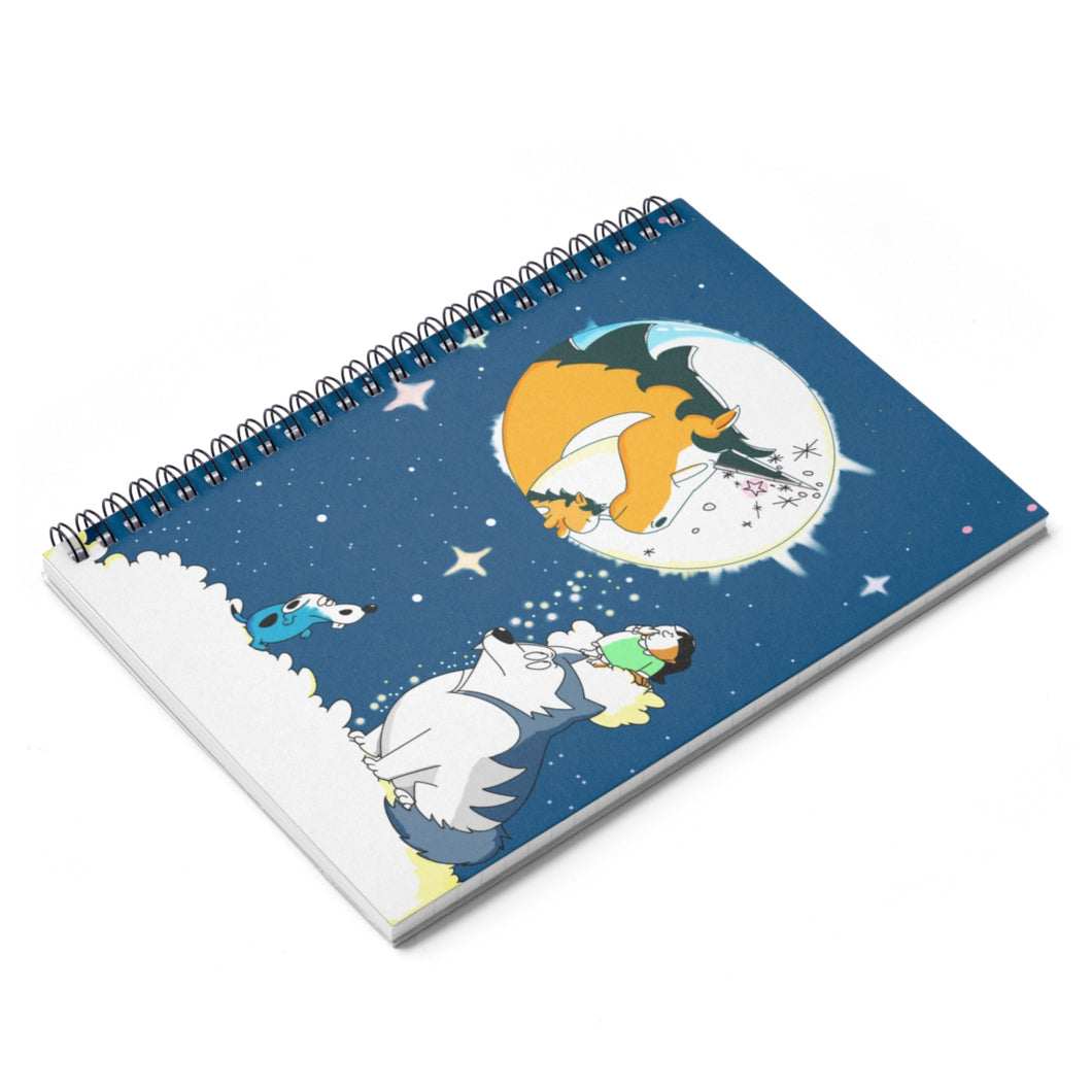 A Moonlit Night Spiral Notebook
