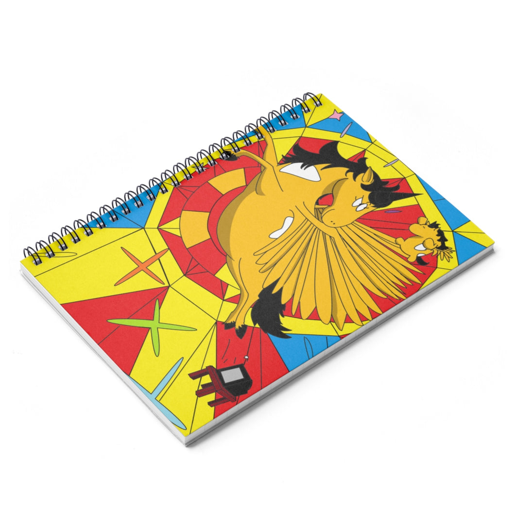 TV Unicorns Spiral Notebook