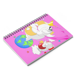 Superhero Pink Spiral Notebook
