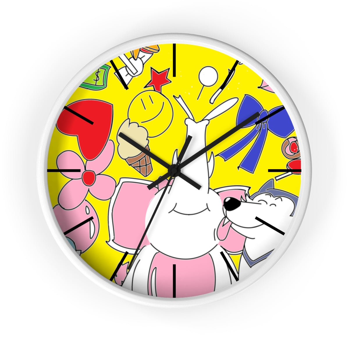 Yellow Decorative Elephant Wall Clock for Bedroom and Office ...