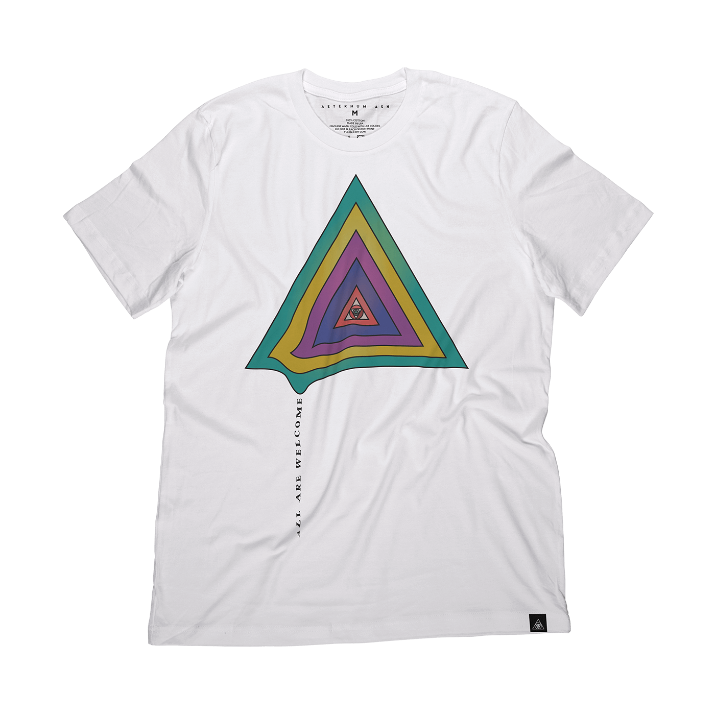 aeternum ash all are welcome tee shirt white