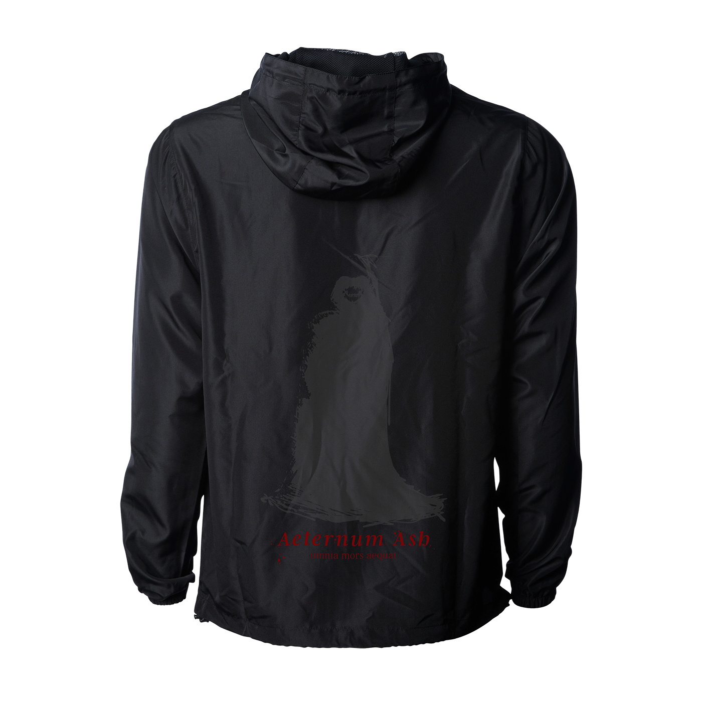 aeternum ash death makes all things equal windbreaker black