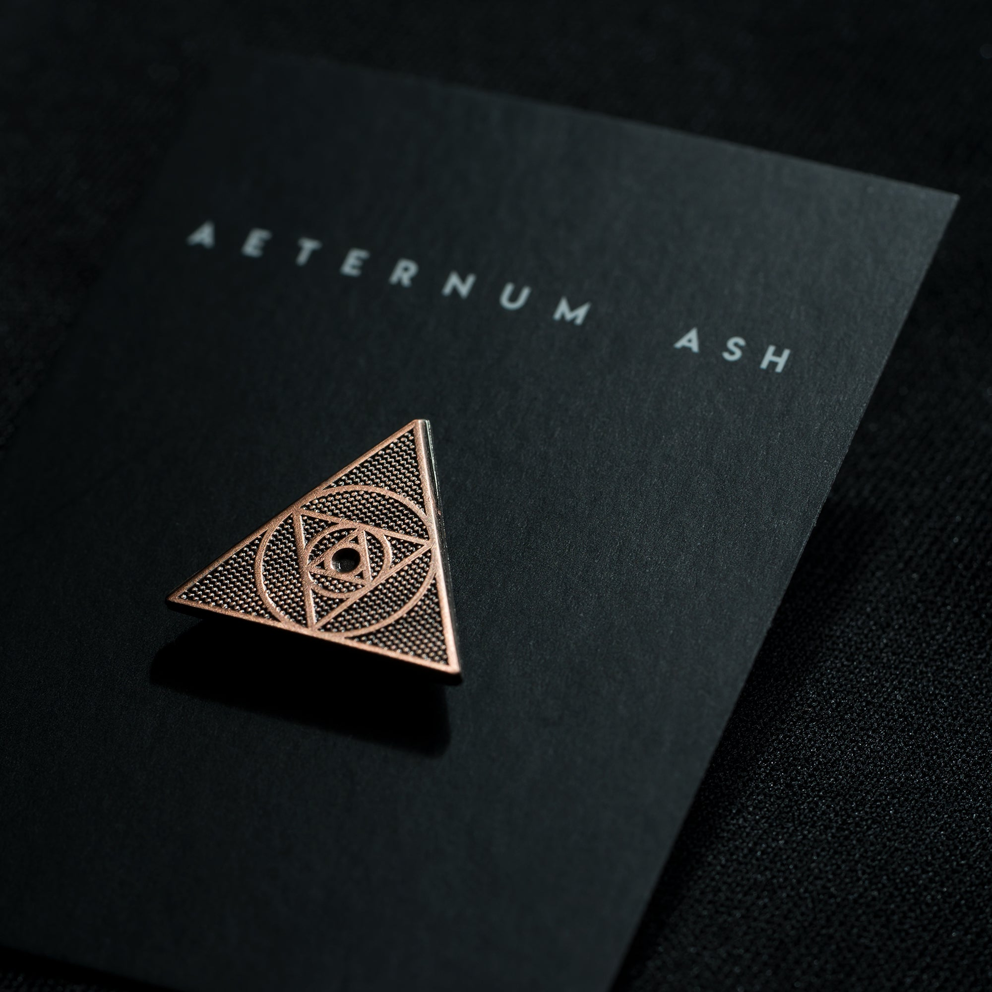aeternum ash enamel pin antique copper