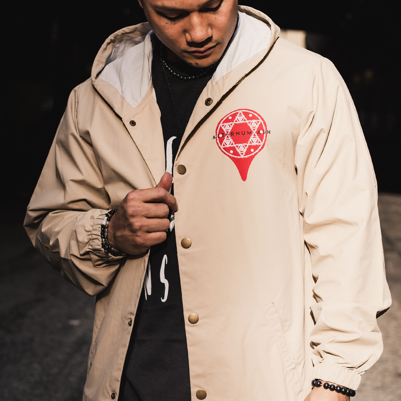 aeternum ash seal of solomon jacket khaki