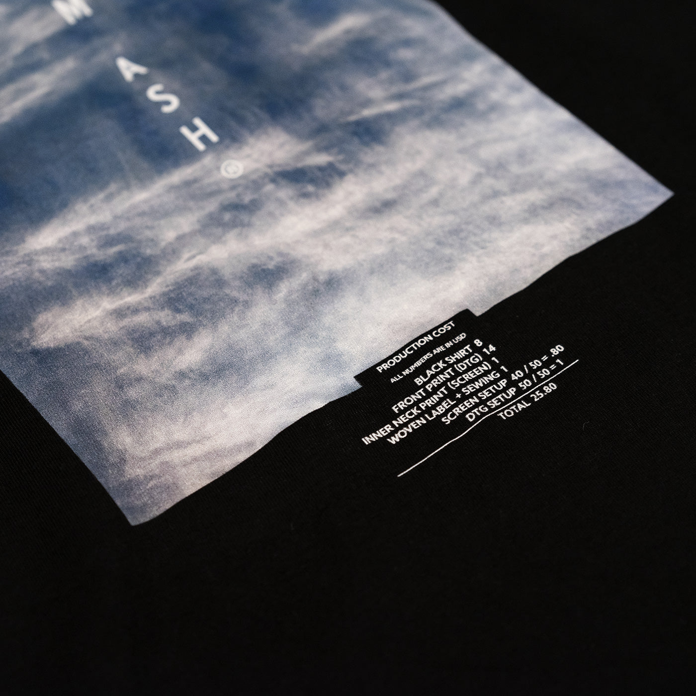 aeternum ash transparentee cloud production cost tee shirt