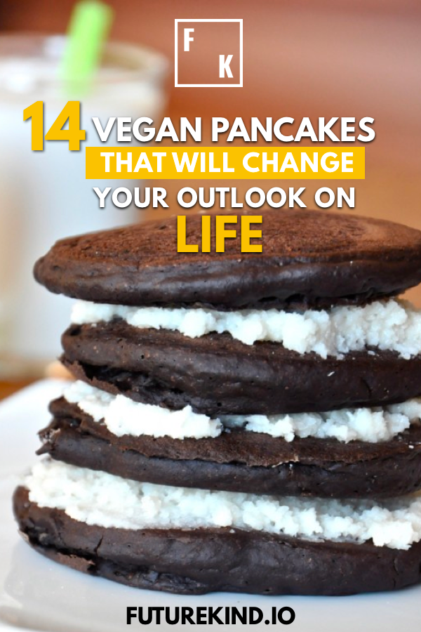 Want a yummy, delicious vegan treat? We all love vegan treats, and none come much healthier (and tasty) than vegan pancakes. Check out these awesome vegan pancake recipes which you can try out in your very own vegan kitchen. Want more healthy vegan recipes and to explore more vegan food? Check out our Future Kind website. In the meantime, enjoy these pancakes vegan style! #vegan #pancakes #veganpancakes