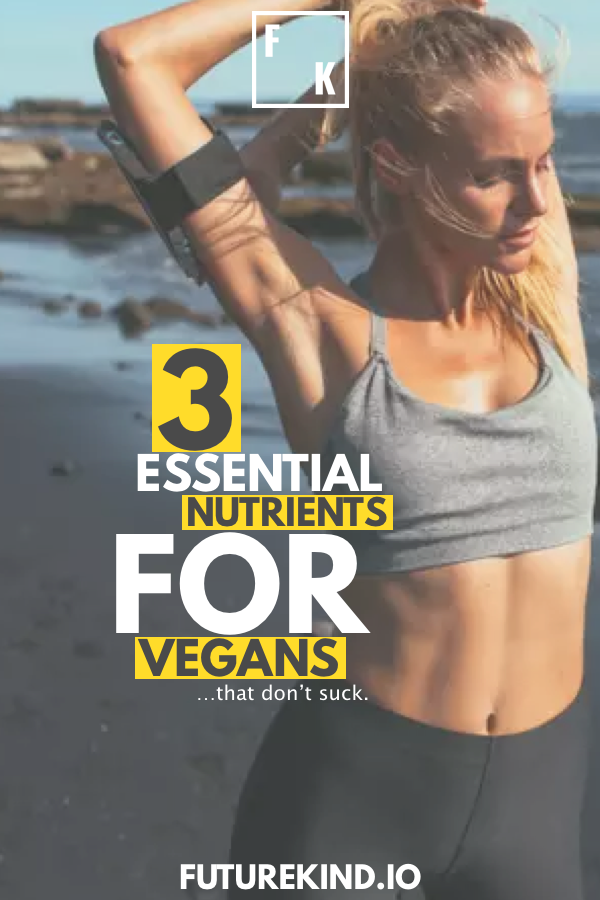 Your body needs vitamins. Whether you get them from food or supplements is up to you, but for vegan health, there are three main health supplements you should be taking as most vegans don't get enough of these nutrients. Vegan recipes can help to include other nutrients, but Omega-3, B12 & D3 are sub-optimal in over 90% of vegans. #Vegan #veganism #health #fitness #supplements #healthyvegan #veganhealth