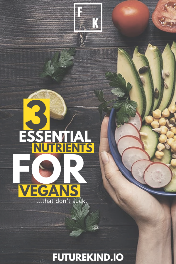 Your body needs vitamins. Whether you get them from food or supplements is up to you, but for vegan health, there are three main health supplements you should be taking as most vegans don't get enough of these nutrients. Vegan recipes can help to include other nutrients, but Omega-3, B12 & D3 are sub-optimal in over 90% of vegans. #Vegan #veganism #health #fitness #supplements #healthyvegan #veganhealth""