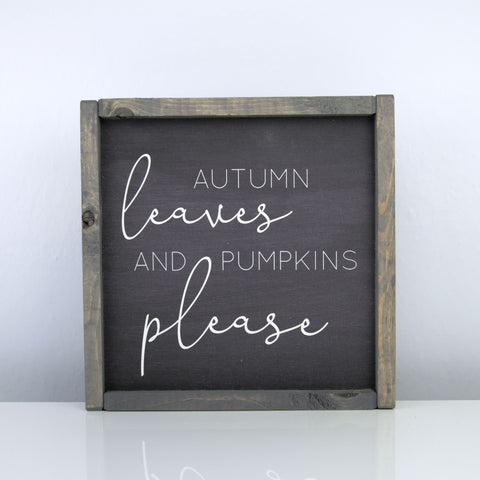 Autumn Leaves and Pumpkins Please | 10 x 10 Midnight