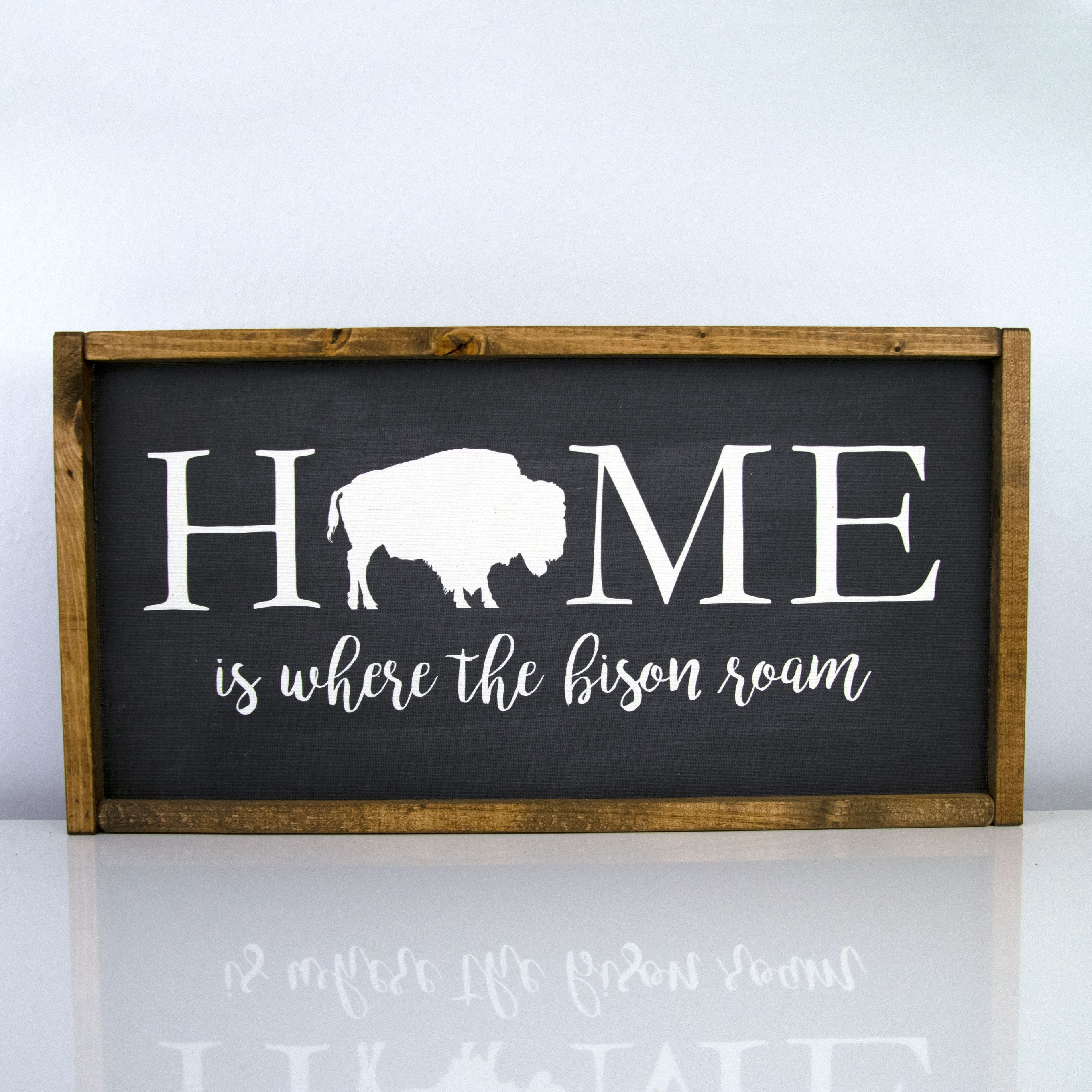 Home Is Where The Bison Roam | 10 x 20 Bold