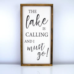 The Lake Is Calling | 10 x 20 Classic