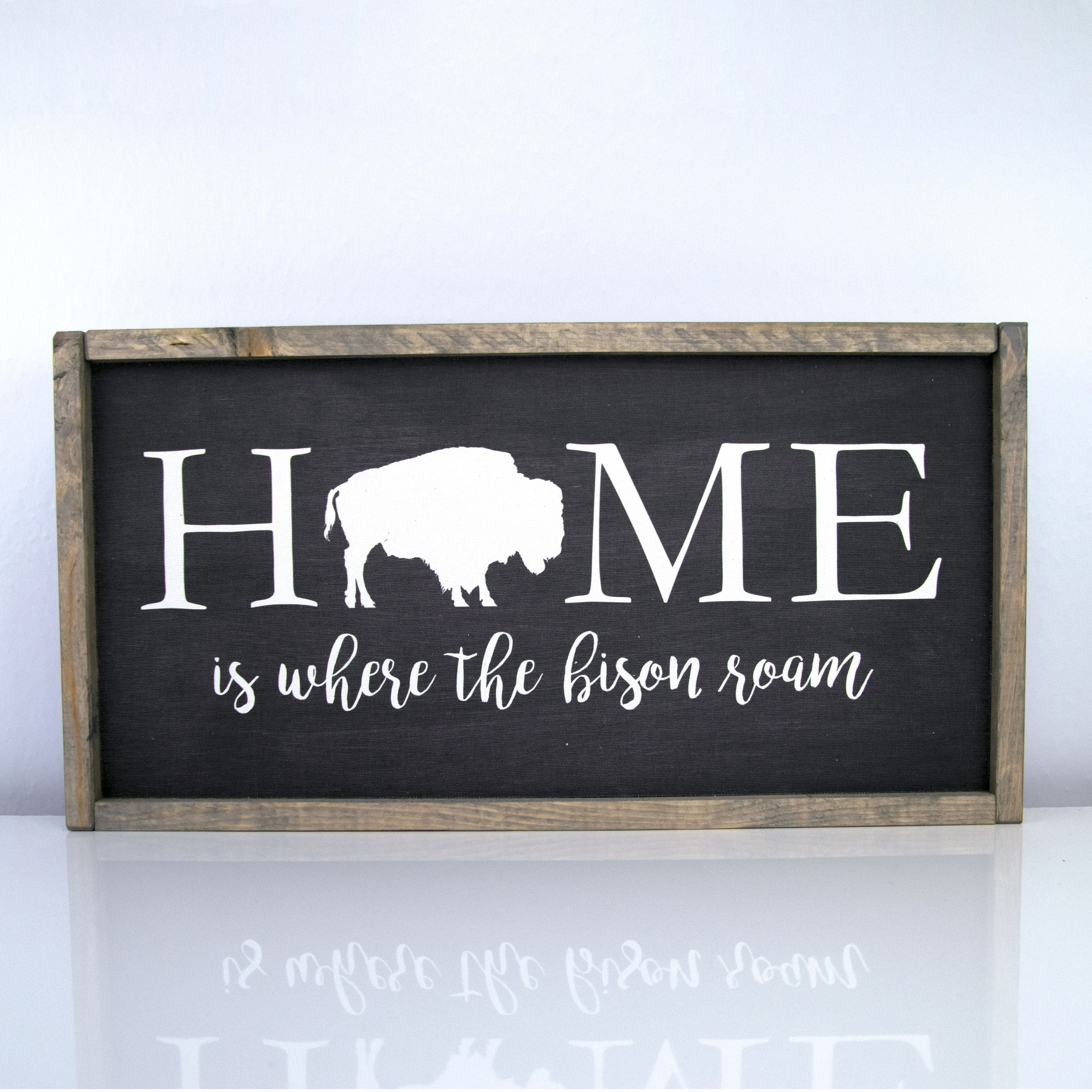 Home Is Where The Bison Roam | 10 x 20 Midnight