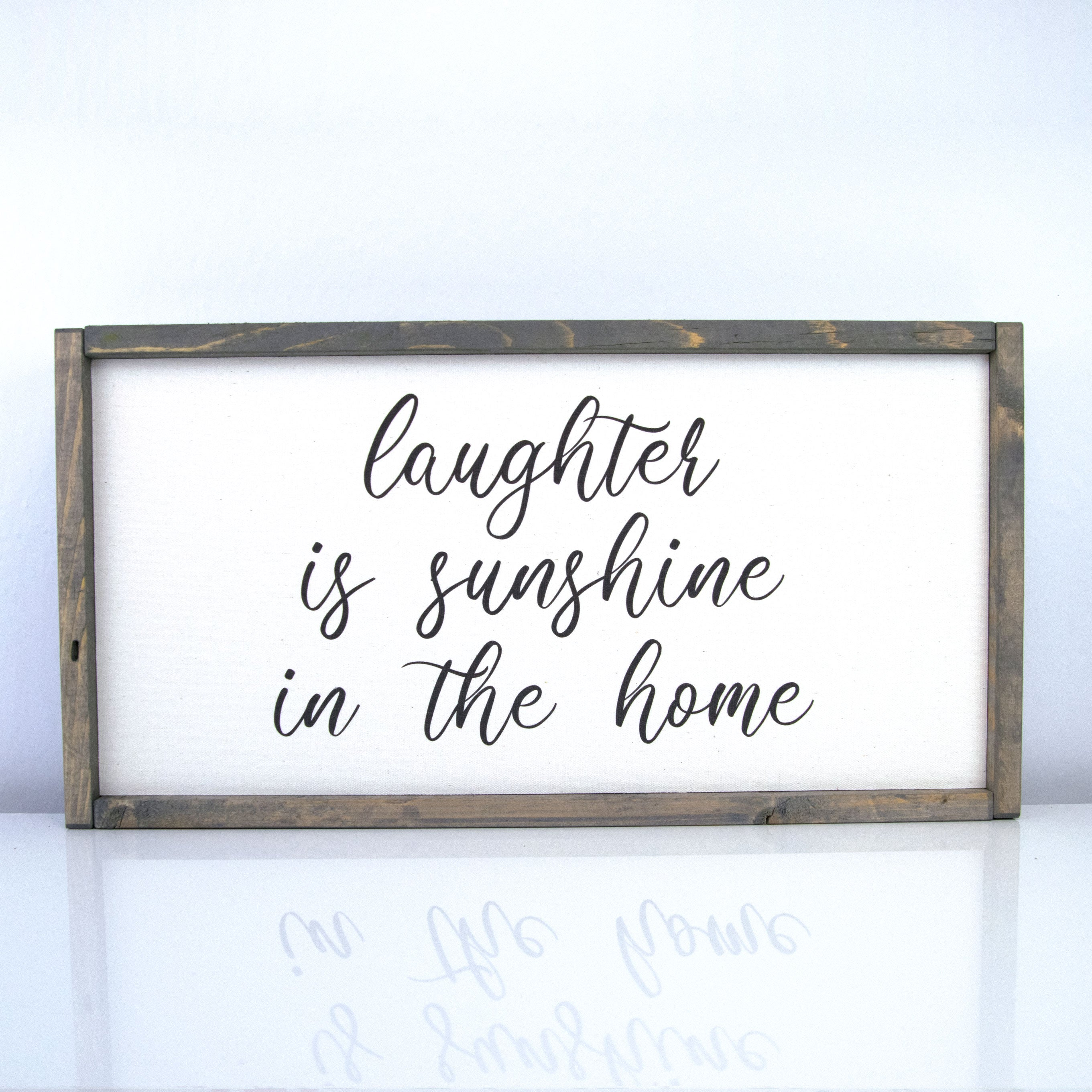 Laughter is Sunshine | 10 x 20 Vintage