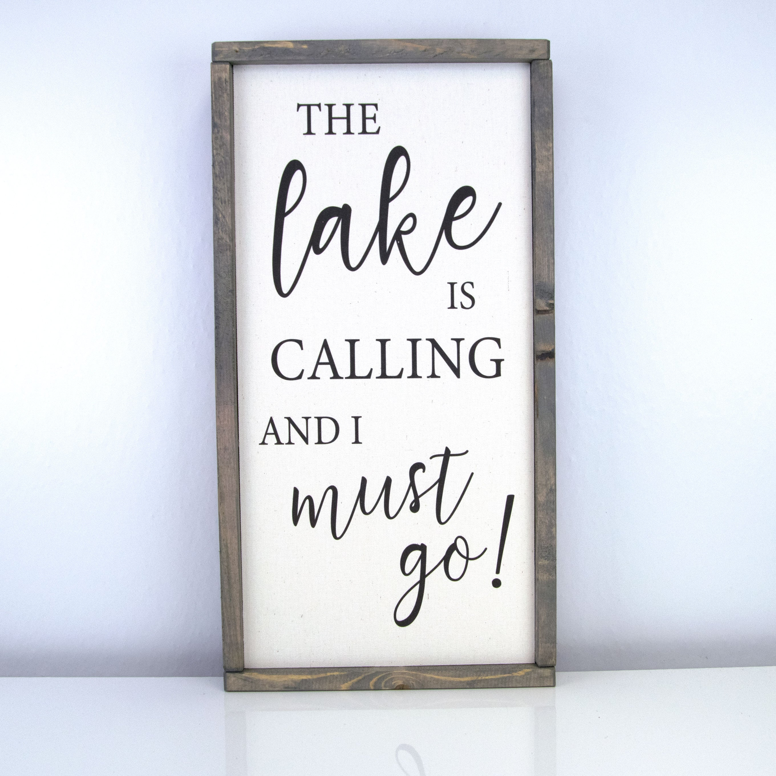 The Lake Is Calling | 10 x 20 Vintage