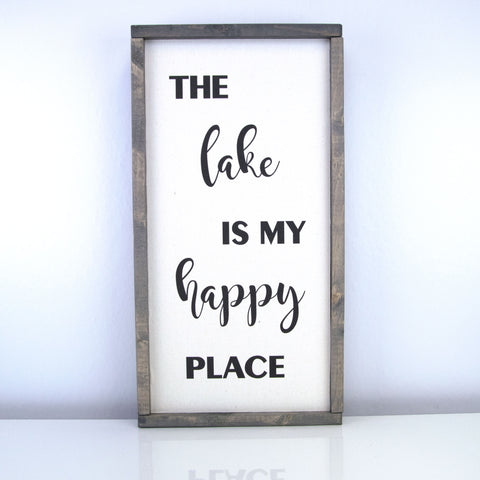 The Lake Is My Happy Place | 10 x 20 Vintage