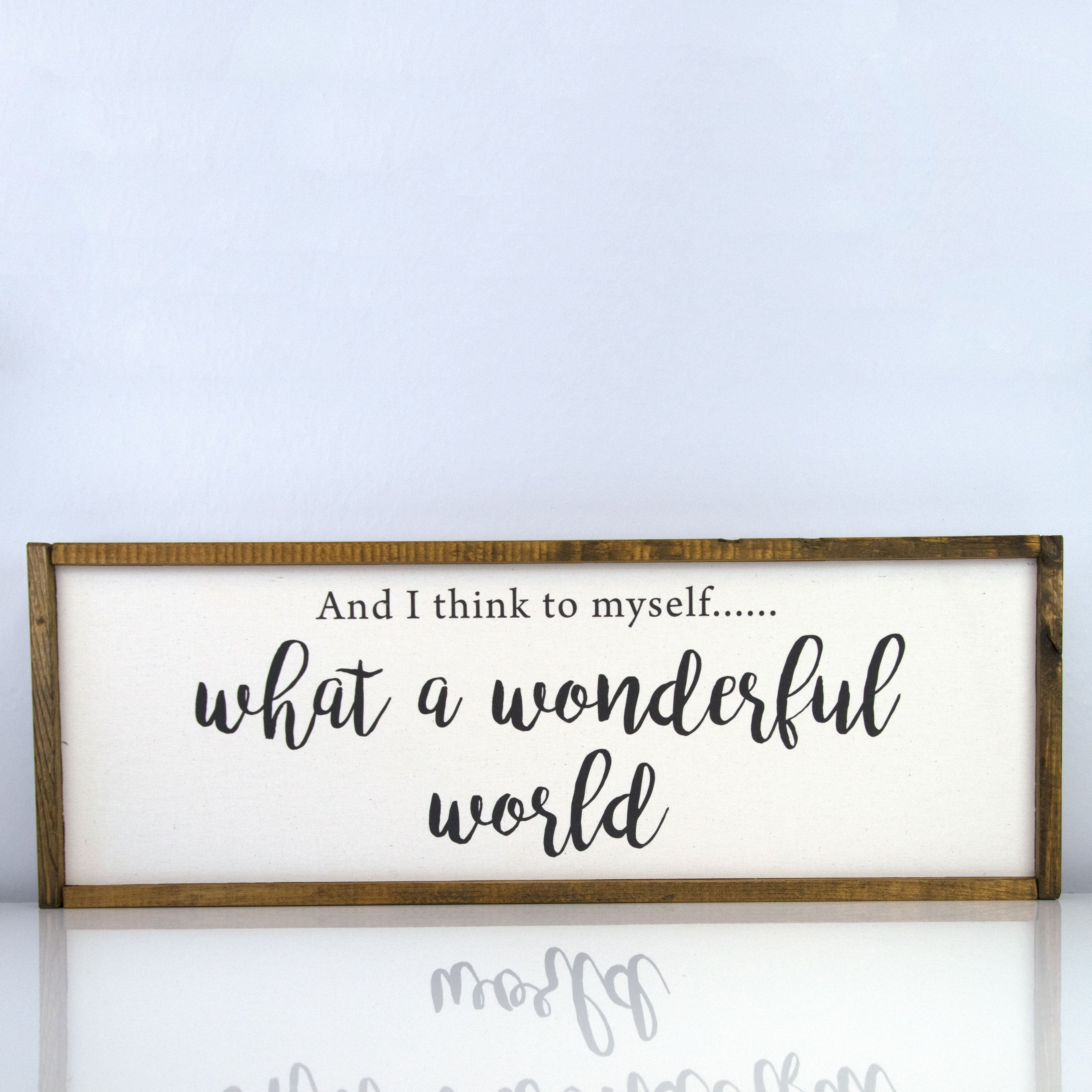 Wonderful World | 10 x 30 Classic