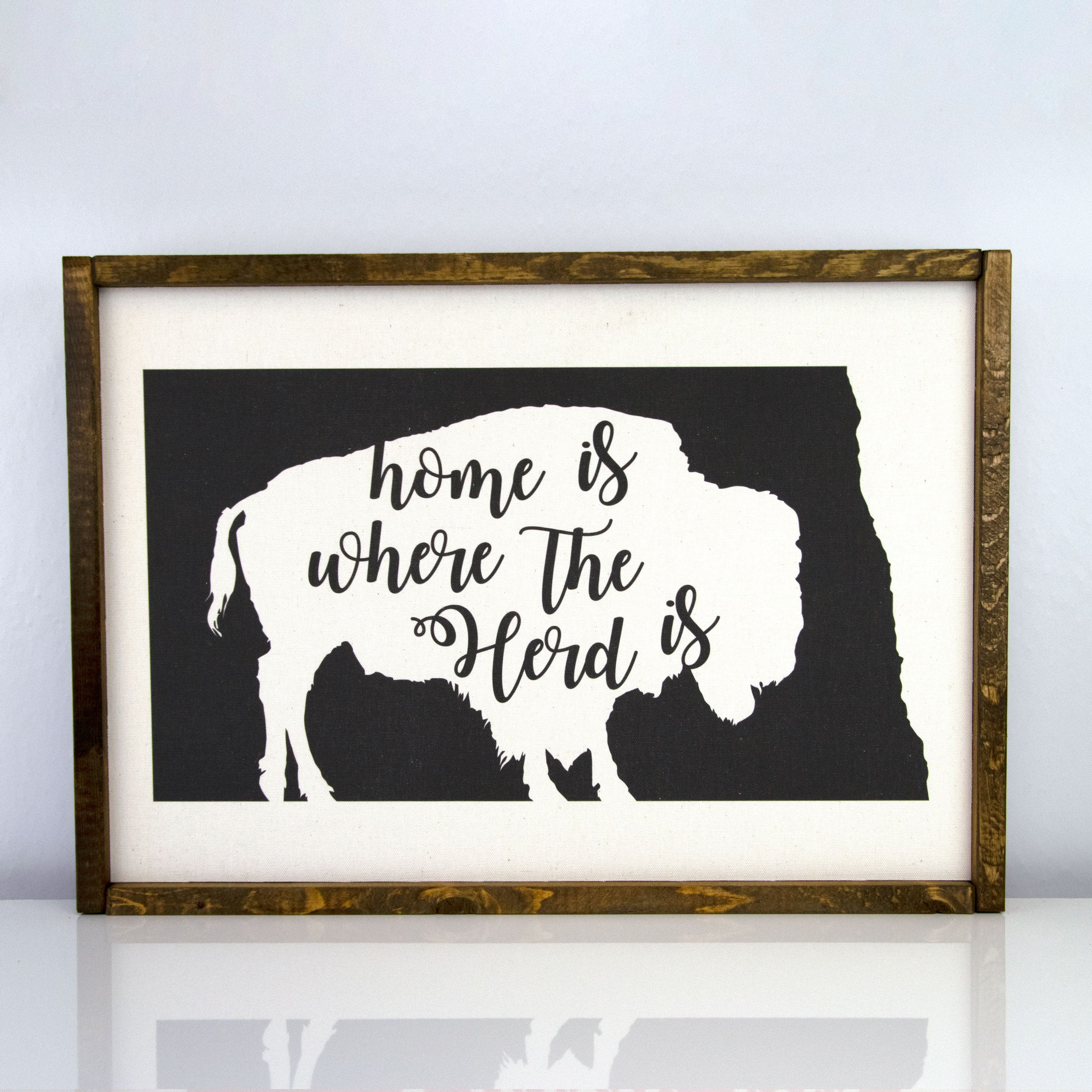 Home Is Where Our Herd Is | 14 x 20 Classic