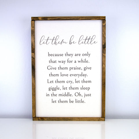 Let Them Be Little | 14 x 20 Classic