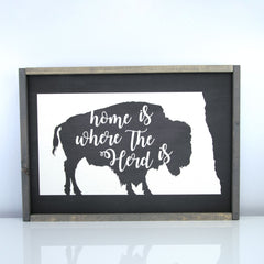 Home Is Where Our Herd Is | 14 x 20 Midnight